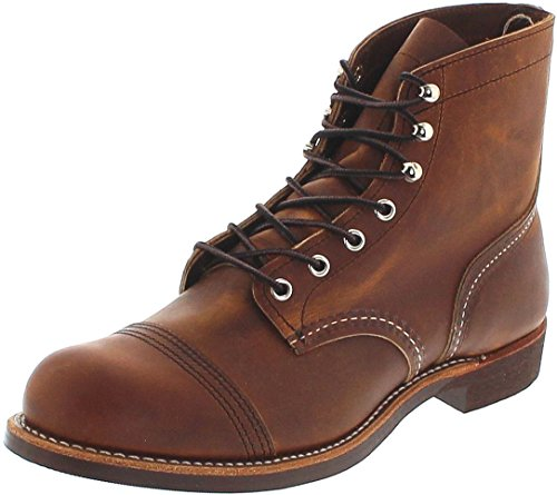 Red Wing Shoes Iron Ranger 8085 Copper/Herren Schnürstiefel Braun/Work Boots/Chukka Boots, Groesse:39 (7 US)