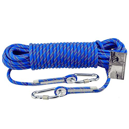 RKY Corde de sécurité d'escalade en plein air 10mm corde d'escalade Lifeline sauvetage sauvetage porter corde équipement de survie fournitures, 13 tailles Corde de sécurité (Size : 50M)