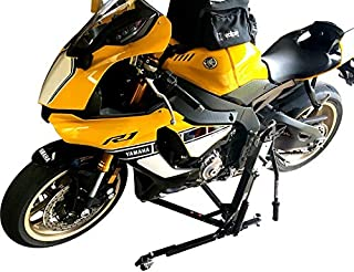 SV Racing Parts for Yamaha R1 2015 and Up, R1-R1M 2015-2019 Models Black Custom Paddock Style Hydraulic Side Lift Motorcycle Stand
