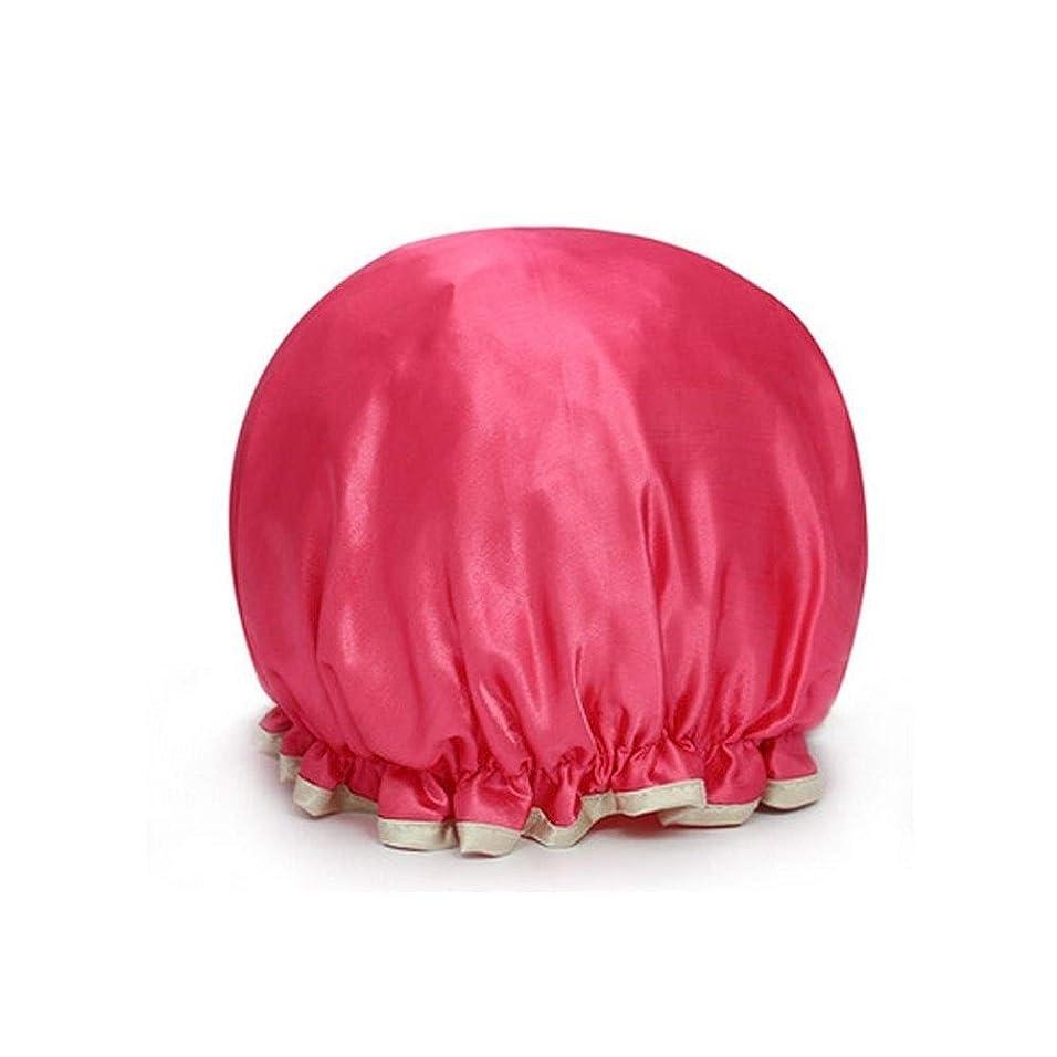 キャメル吸うベーカリーSMXGF シャワーキャップ、レディースシャワーキャップ - 防水やカビ耐性、再利用可能なシャワーキャップ. (Color : 2)