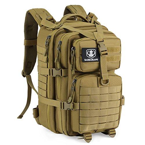 Gonex taktischer Rucksack, Barbarians militärischer Assault Rucksack für Outdoor Wandern Camping Trekking, Khaki