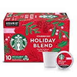 Starbucks Medium Roast K-Cup Coffee Pods — Starbucks Holiday Blend for Keurig Brewers — 1 box...