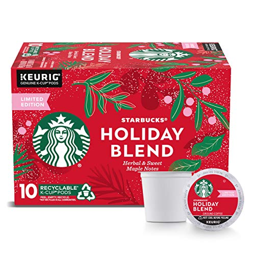 Starbucks Medium Roast K-Cup Coffee Pods — Starbucks Holiday Blend for Keurig Brewers — 1 box (10 pods)