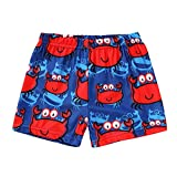 Toddler Baby Boys Girls Swim Trunks Swimsuit Bathing Suit Beach Shorts Infant Animal Pattern Shorts Pants (Crab-Red, 5-6 Y)