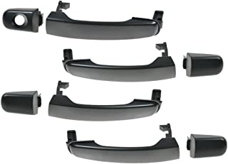 Exterior Outer Outside Door Handle Reinforcement Bracket ONLY Black Front Left//Right Pair PT Auto Warehouse GM-3372S-2FP