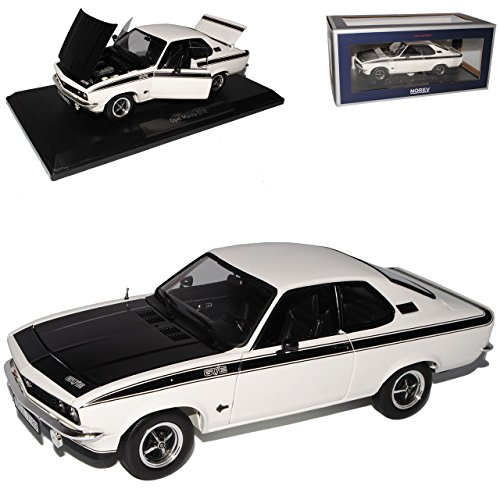 Norev Opel Manta A GT/E Weiss mit Schwarz Coupe 1970-1975 1/18 Modell Auto