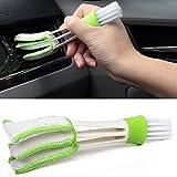 HMOCNV Kit de cepillo de limpieza de doble extremo para coche y coche, para limpiar el polvo, el polvo, el aire acondicionado y el coche, para panel de instrumentos