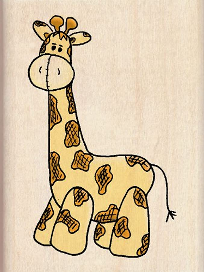 EK Success Inkadinkado Giraffe Wood Stamp (6478)