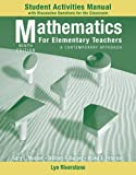 Student Activity Manual to accompany Mathematics for Elementary Teachers: A Contemporary Approach, 9e