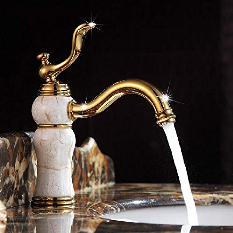 Makej Hohe Qualitt Badezimmer Luxus Gold Messing Marmor Heie Und Kalte Wasserhahn Goldene Europische Waschbecken Wasserhahn Waschbecken Mischbatterie Wasserhahn