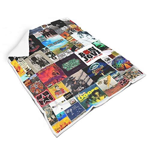 XJJ88 Mantas Vintage Películas Fondo Universal Acogedor Multifuncional Divertido Manta – Se adapta a la vida diaria para regalo de estudiante blanco 152 x 203 cm