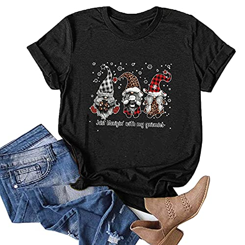 Christmas Shirts and Blouses Plus Size Long Sleeve Striped Tops for Women 2XL Shirts Cardigan Family Picture Clothes Knit Sweater Black Leopard Print Sweatshirts Black Tops