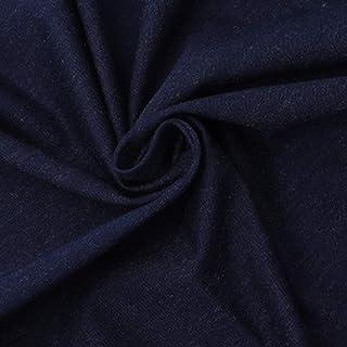 ACCLD Algodón Plata antiestático de Fibra denso Tejido de Punto de Plata Azul Marino Plata Corto Fibra elástica de Tejidos...