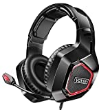 VOYEE Gaming Headset Replacement for Xbox/PC/PS5/PS4 Headset, Wired Noise Canceling Over Ear Headphone with Mic/Surround Sound/LED Light Compatible with Switch/PC/PS5/PS4/Xbox One/Laptop/Tablet/Mac