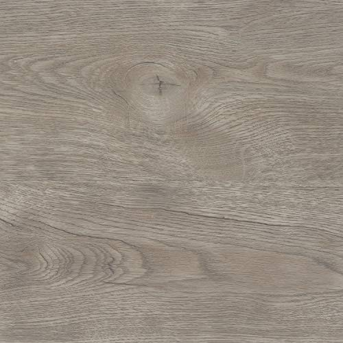 TRECOR Klick Vinylboden RIGID/Designboden Massivdiele 5 mm stark mit 0,5 mm Nutzschicht - WASSERFEST - Sie kaufen 1 Musterstück mit ca. 35 cm Länge - (Vinylboden Musterstück, Eiche Nevada)
