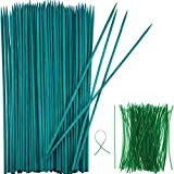 Boao Estaca de Planta de Madera Verde Soporte de Planta Floral Estaca de bambú de Madera...