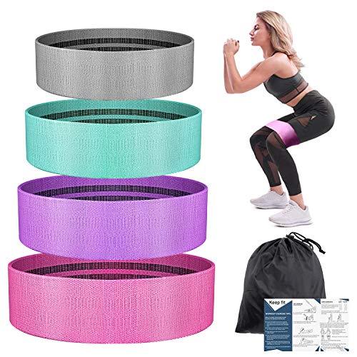 BESTOPE Elastica Bandas de Resistencia Set, Bandas de Ejercicio de Cadera para Yoga, Pilates, Fitness, Crossfit, Bandas de Fitness Elásticas para Mujer y Hombre