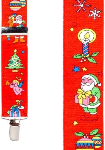4 Sizes, 3 Colors SuspenderStore Mens Santa Novelty Christmas Suspenders