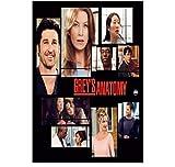 ZOEOPR Plakat Grey's Anatomy Classic Tv Filmreihe Plakate