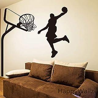 ASFGA Etiqueta de la Pared del Baloncesto Estrella de Baloncesto NBA Etiqueta de la Pared del Atleta DIY Etiqueta de la Pared de los Deportes Decoración de los niños Decoración de la Pared ext