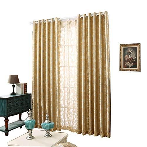 RR & LL gordijnen gordijnen in Europese stijl verdikte dubbelzijdige jacquard-schaduwdoek slaapkamer vloergordijnen woonkamer herker raam gordijnen (grootte: breedte 150hoogte 270cm)