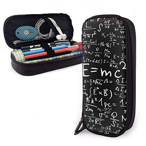 Lawenp E=mc2 Pencil Case,Large Capacity Pencil Bag with Durable Zipper Students Stationery Pen Bag for Pens and Other School Supplies
