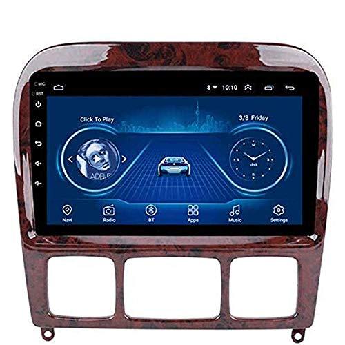 Android 8.1 - Radio GPS para coche, pantalla táctil de 9 pulgadas, para Mercedes Benz Clase S 1998 – 2005, con control en el volante, Bluetooth, Mirror Link DAB, USB, FM, Wi-Fi: 1 + 16 G