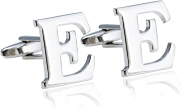 Jstyle Jewelry Brass Mens Cuff Links Initial Personalized Capital Alphabet Letter Cufflinks