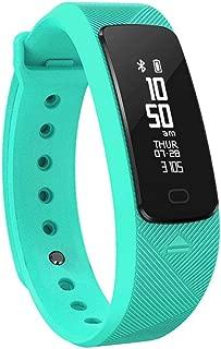WTYD Smartwear SMA-B2 Fitness Tracker Bluetooth 4.0 Smart Bracelet, IP67 Waterproof, Support Sports Modes/Heart Rate Monitor/Blood Pressure Monitor/Sleep Monitor(Black) (Color : Green)