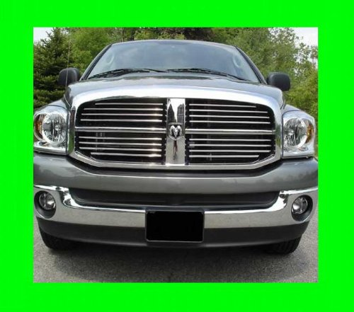 312 Motoring fits 2003-2009 Dodge RAM Chrome Grille Grill KIT 2004 2005 2006 2007 2008 03 04 05 06 07 08 09 1500 2500 3500 Laramie SLT ST Big Horn SRT-8 SRT8