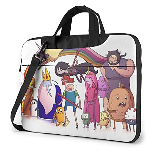 XCNGG Adventure Time Laptop Bag Tablet Maletín portátil Funda protectora Funda de mensajero Bolsas de mensajero de 15,6 pulgadas