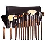 zoreya   15 new pinceles luxe cepillos de maquillaje cosmética kit profesional sintéticas   calidad superior   cosmetic makeup brush set 15 pcs   bolsa de almacenamiento piel design   idea regalo