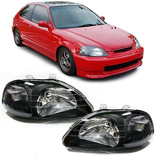 Carparts-Online 20360 Klarglas Scheinwerfer schwarz für LWR