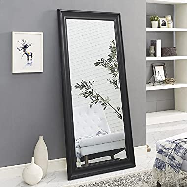 Naomi Home Framed Floor Mirror Black