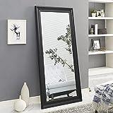 Naomi Home Framed Floor Mirror Black/65' x 31'