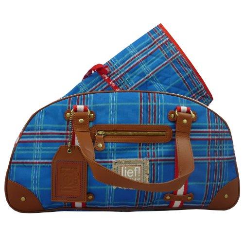 Lief Post Package Check Diaper Bag Cobalt con correa y wischel–Fregadero