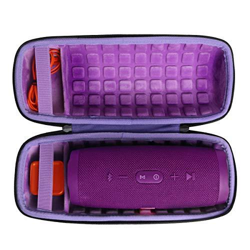 Duro Viajar Caso Cubrir para JBL Charge 4 Altavoz Bluetooth inalámbrico Portátil por co2CREA (Púrpura)
