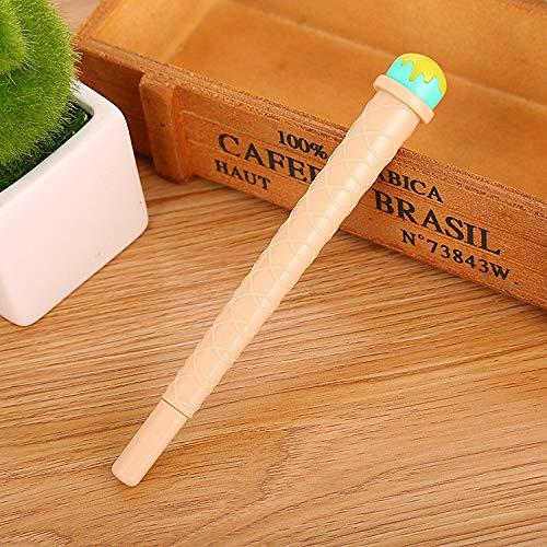 10 Sticks Kreatives Lernen Schreibwaren Kegel Gel Stift Sommer Coole Modelle Niedlich Simulation Eis Nadel Stift Auf Wasserbasis C 0.5Mm