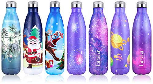 Grsta Botella Agua, 500ml Botella Agua Acero Inoxidable sin BPA Pared Completa Botellas de Frío/Caliente Termo Botellas Termica Prueba de Fugas para Niños, Adultos, Deporte, Yoga, Ciclismo