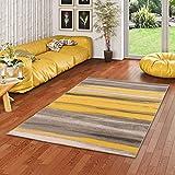 Pergamon Samba - Alfombra de diseño - Rayas Beige Amarillas - 5 tamaños