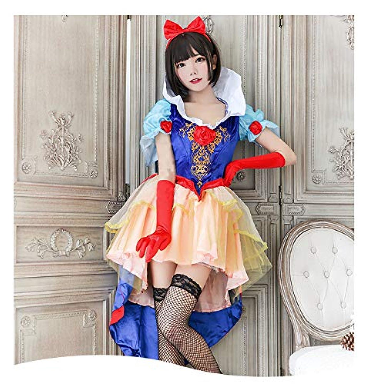 バンカーパドルうんSOLAI ハロウィン コスプレ 白雪姫 しらゆき コスチューム プリンセス ドレス 衣装 イベント 0030