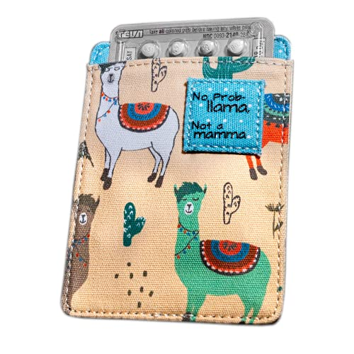 Birth Control Pill Case for Contraceptive Pills Medication Sleeve Pouch Holder - Fits up to 4
