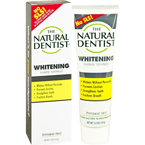 The Natural Dentist Healthy Teeth & Gums Whitening Plus Toothpaste, Peppermint Twist 5 oz (Pack of 2)2