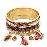 Shining Diva Fashion Multicolour Stylish Bangle Bracelet for Girls and Women
