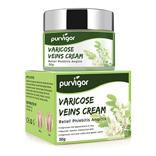 Varicose Veins Cream, Varicose Vein & Soothing Leg Cream,Natural Varicose & Spider Veins Treatment,Improve Blood Circulation,Tired and Heavy Legs Fast Relief