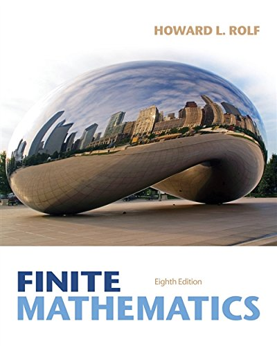 Compare Textbook Prices for Student Solutions Manual for Rolf's Finite Mathematics, 8th 8 Edition ISBN 9781285084695 by Rolf, Howard L.