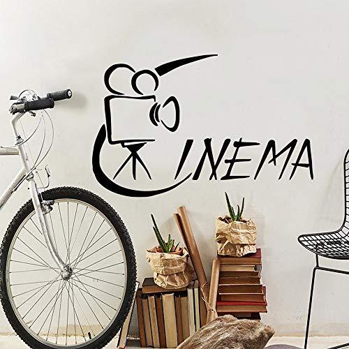 Pegatinas de pared de cine de estilo de dibujos animados, pegatina de pared de moda moderna para decoración de habitación de niños, calcomanía de arte de pared impermeable A5 57x88cm