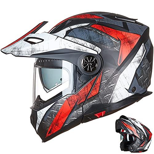 ILM Motorcycle Full Face Modular ATV Helmet Three in One Casco with Pinlock Anti Fog Visor for Men...