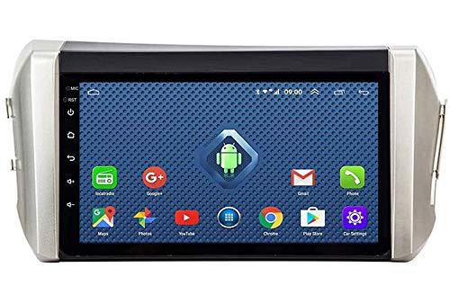 Compatible con Toyota Innova 2015-2018 Android 9.0 Car Stereo Radio Double Din Sat Nav Navegación GPS Reproductor multimedia con pantalla táctil de 9 pulgadas Receptor de video con 4G DSP Carplay
