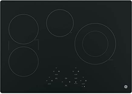 GE JP5030DJBB 30 Inch Smoothtop Electric Cooktop with SyncBurner, Keep Warm, Digital Touch Controls